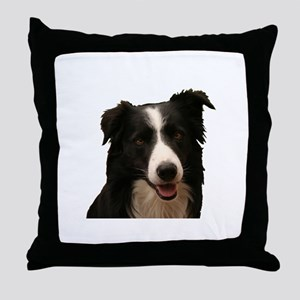 Border smile Throw Pillow