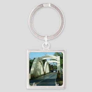 Haleiwa Bridge Square Keychain