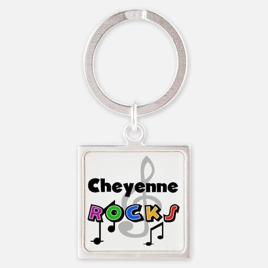 Cheyenne Rocks Square Keychain