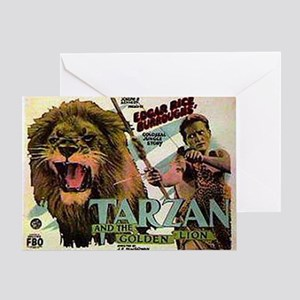 Tarzan and the Golden Lion Greeting Card