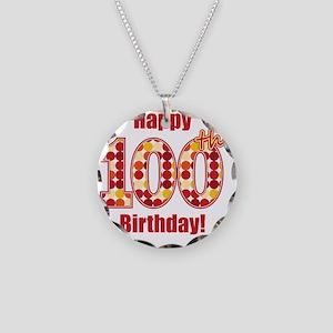 Happy 100th Birthday! Necklace Circle Charm