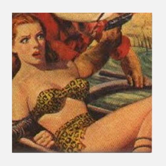 Jungle Stories 1951 Tile Coaster