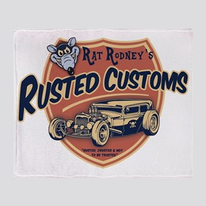 rat-rod-103-T Throw Blanket