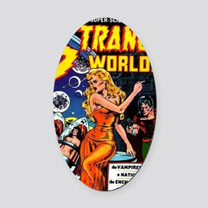 Strange Worlds No 4 Oval Car Magnet
