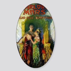 Warlord of Mars 1919 Sticker (Oval)
