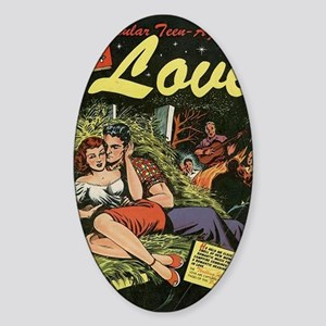 Popular Teen-Agers Secrets of Love Sticker (Oval)