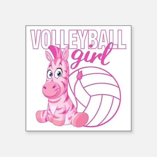 "Volleyball Girl Square Sticker 3"" x 3"""