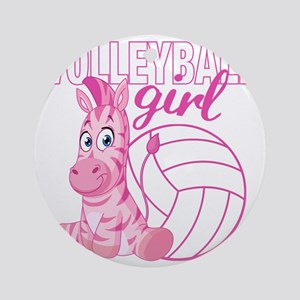 Volleyball Girl Round Ornament