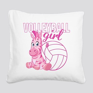 Volleyball Girl Square Canvas Pillow