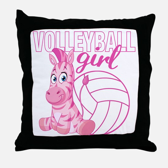 Volleyball Girl Throw Pillow