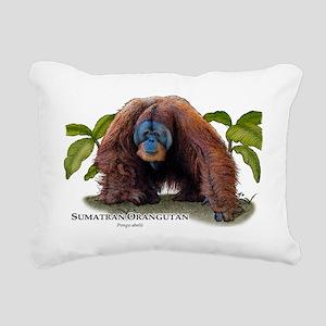 Sumatran Orangutan Rectangular Canvas Pillow
