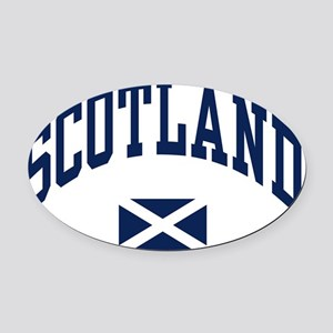 Scotland with Saltire flag Oval Car Magnet