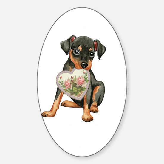 minpin mom1K Sticker (Oval)