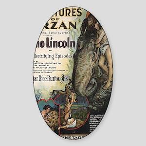 Adventures of Tarzan Elmo Lincoln Sticker (Oval)