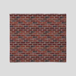 red brick pattern Throw Blanket