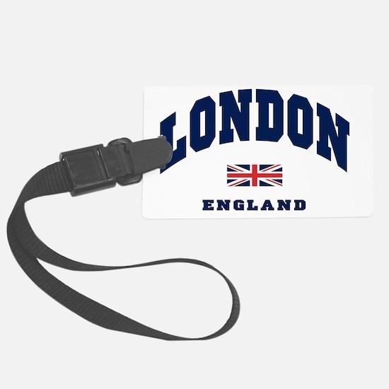 London England Union Jack Luggage Tag