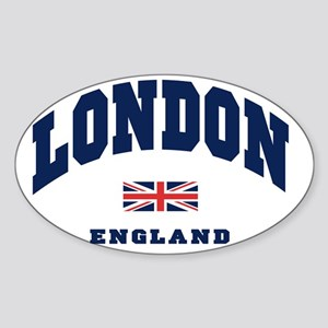 London England Union Jack Sticker (Oval)