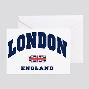 London England Union Jack Greeting Card