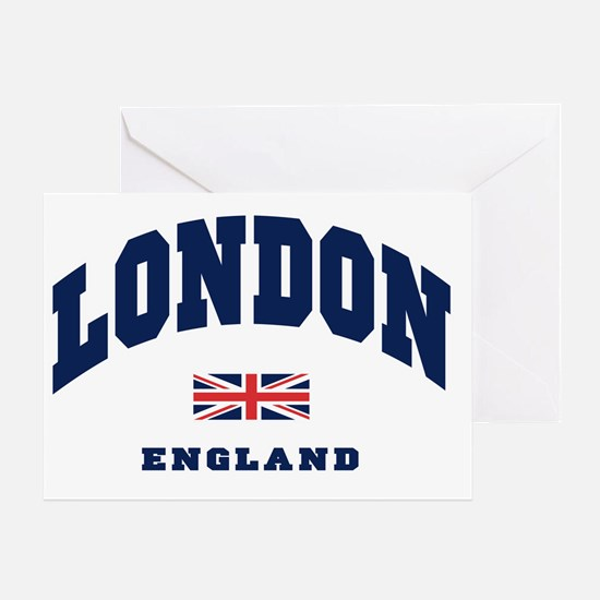 London England Union Jack Greeting Card