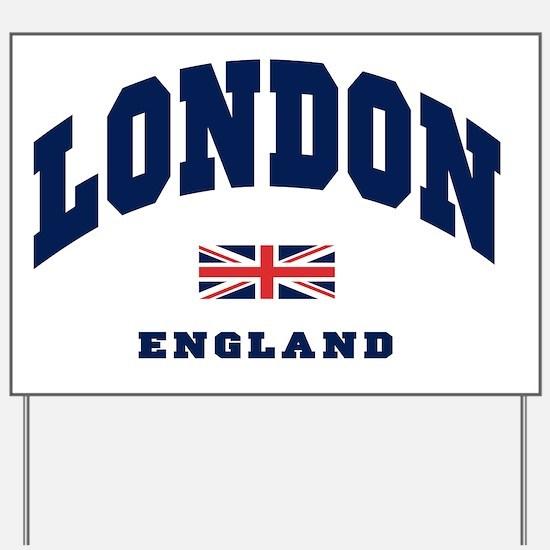 London England Union Jack Yard Sign