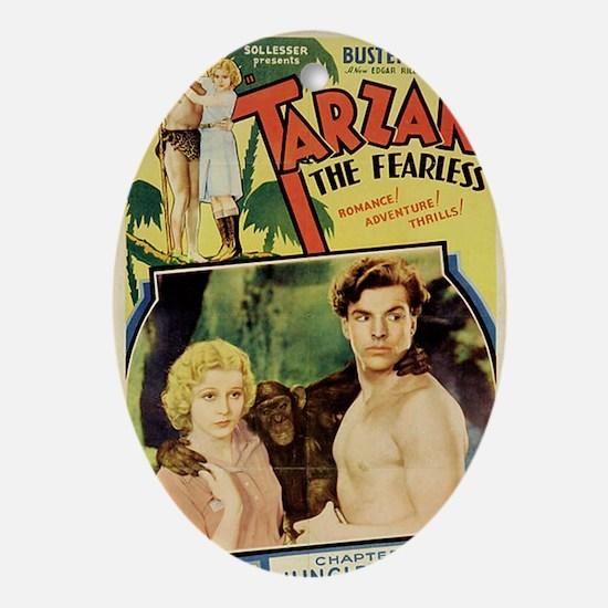 Tarzan the Fearless Oval Ornament