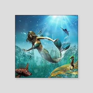 "Glimpse Of Atlantis 2 Square Sticker 3"" x 3"""