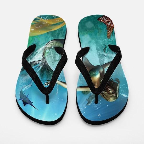Glimpse Of Atlantis 2 Flip Flops