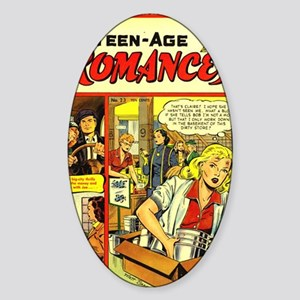 Teen-Age Romances No 23 Sticker (Oval)