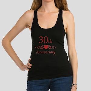 30th Wedding Anniversary Racerback Tank Top