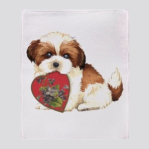 shih tzu momK Throw Blanket