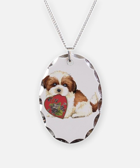 shih tzu mom1K Necklace