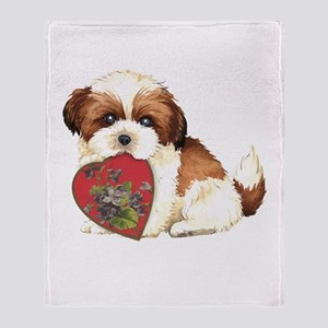 shih tzu mom1K Throw Blanket