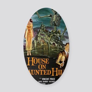 House on Haunted Hill. Oval Car Magnet