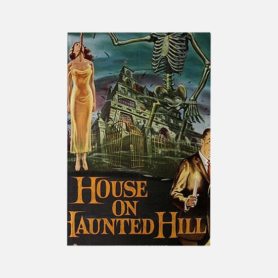 House on Haunted Hill. Rectangle Magnet