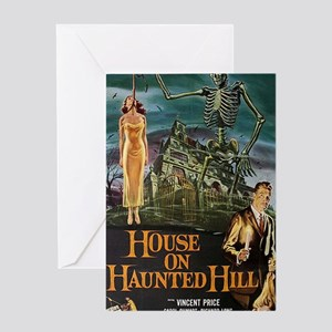 House on Haunted Hill. Greeting Card