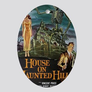 House on Haunted Hill. Oval Ornament