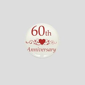 60th Wedding Anniversary Mini Button