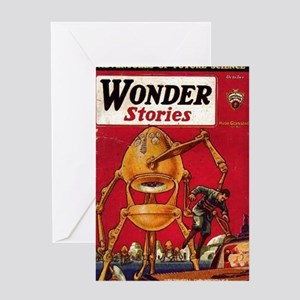 Wonder Stories Vol 3 No 5 Greeting Card