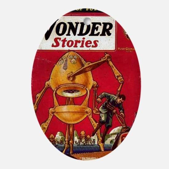 Wonder Stories Vol 3 No 5 Oval Ornament