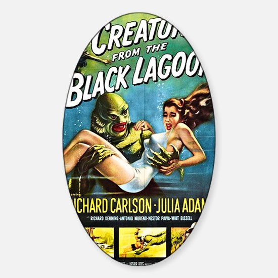 Creature from the Black Lagoon Post Sticker (Oval)
