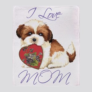 shih tzu mom Throw Blanket