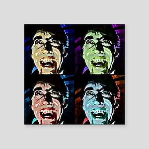 "Dracula Pop Art Square Sticker 3"" x 3"""