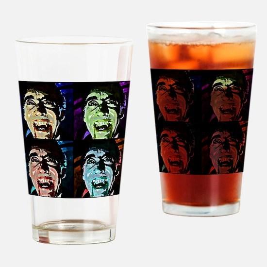 Dracula Pop Art Drinking Glass