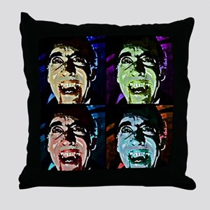 Dracula Pop Art Throw Pillow