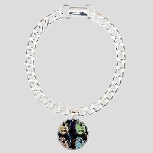 Dracula Pop Art Charm Bracelet, One Charm