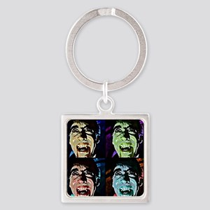 Dracula Pop Art Square Keychain
