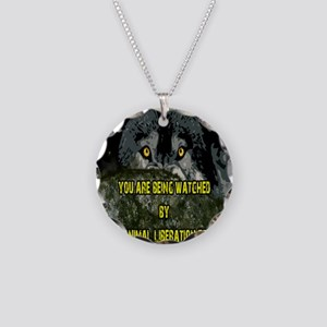 You are being watched! Necklace Circle Charm