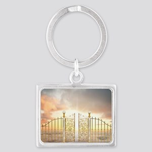 Pearly Gates - wide Landscape Keychain