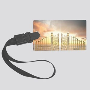 Pearly Gates - wide Large Luggage Tag