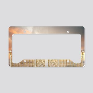 Pearly Gates - wide License Plate Holder
